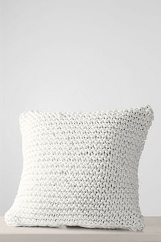 """white or navy   18"""" x 18"""" Woven Rope Decorative Pillow Cover or Insert from Lands' End"""