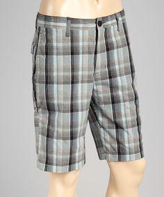 Look at this #zulilyfind! Gray Spin Plaid Walk Shorts #zulilyfinds