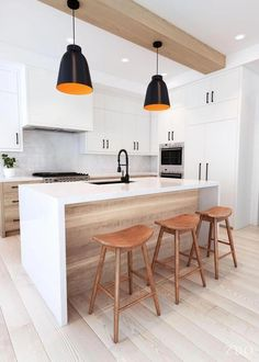 Best Kitchen Design Ideas 2019 To Copy - simple and trendy kitchen interior design - Scandinavian Kitchen, Kitchen Design Trends, Kitchen Remodel, Contemporary Kitchen, Kitchen Layout, Modern Kitchen Design, Minimalist Kitchen, Kitchen Style, Kitchen Design