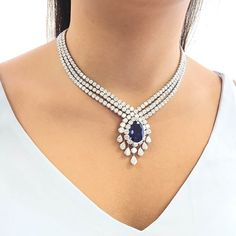 Sapphire and diamond necklace by Van Cleef & Arpels.