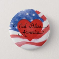 Shop God Bless America Flag Button created by AudreyAscenzo. Rock Painting Patterns, Rock Painting Ideas Easy, Rock Painting Designs, Paint Designs, Flag Painting, Rainbow Painting, Stone Painting, Shell Painting, Painted Rocks Craft