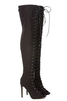 Lace Up Thigh High Electra Boots