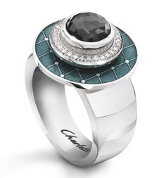 diamonds and hematite ring