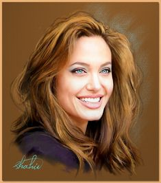 ANGELINE JOLIE ~ By shah in '_____________________________ Reposted by Dr. Veronica Lee, DNP (Depew/Buffalo, NY, US)