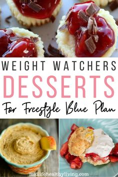 All of these Weight Watchers Dessert Recipes are calculated for the Blue Plan (Freestyle). With the new myWW plans you can enjoy dessert too. Be sure to track all of the WW points for a successful plan.