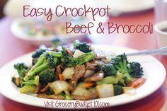 Easy Crockpot Beef & Broccoli