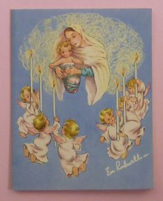 Vintage Christmas card by Eve Rockwell | eBay