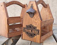 Art�culos similares a Arte de portador - cerveza madera Bolsa - regalo personalizado - r�stico el regalo de cumplea�os para �l - de cerveza-regalo padrino en Etsy