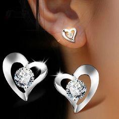 Fashion Earrings, Women's Earrings, Diamond Earrings, Simple Style, Swarovski, Jewelry, Jewlery, Jewerly, Schmuck