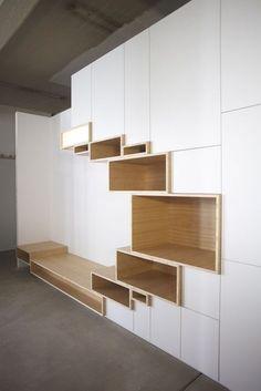 Un bureau discret et beaucoup de rangement | For home! | Mobilier de ...