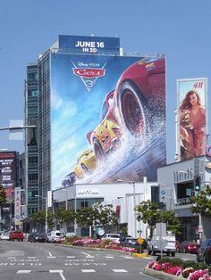 Giant Cars 3 movie billboard Sunset Strip