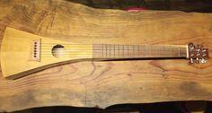 Guitarra viajera electroacustica hecha con mis manos