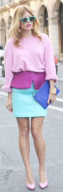How to wear: pastels.