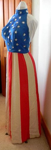 Vintage 4th of July Patriotic Costume Float Parade Lady Liberty Costume Womens - SO Cool!