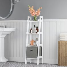 Shop for RiverRidge Amery Collection Floor Shelf. Get free delivery On EVERYTHING* Overstock - Your Online Furniture Outlet Store! Small Bathroom Storage, Bathroom Shelves, Bathroom Ideas, Bathroom Cabinets, Shower Ideas, Bathroom Hardware, Floor Shelf, Cabinet Shelving, Open Shelving