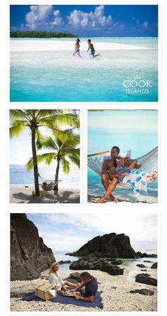 The Beautiful Cook Islands!  http://www.stylemepretty.com/california-weddings/2013/03/14/cook-islands-4/