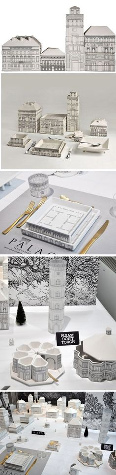 Palace Porcelain Stacking Tableware by Seletti's Selab + Alessandro Zambelli.
