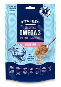 Did you know that itchy skin, dry coat and joint stiffness are all indicators that your dog might not be getting the right levels of Omega 3 from their food.  Good levels of Omega 3 in the diet also support brain function, immune system response, heart health and hormone balance, so it's important to get it right.