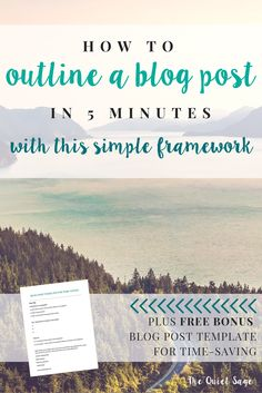 Are you a stay-at-home mom who blogs? If you're like me, you're always looking for ways to work from home, make money online, and still save time. Check out this blog post where I uncover exactly how to outline a blog post in 5 minutes or less using this simple framework. Plus get access to my FREE time-saving blog post template!