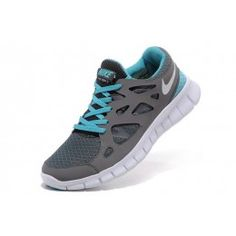 on sale d8bd3 c95ec Nike Free Run 2 Women s Running Shoes Cool Grey White-Tide Pool Blue Roshe