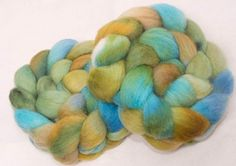 Hand dyed painted spinning wool,  English Whitefaced Woodland, Penistone, combed tops, British rare breed, roving, colour; Ley Lines by YummyYarnsUK on Etsy
