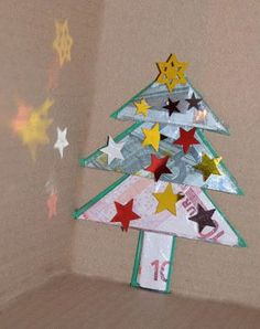 Make money gift - Make Christmas tree for Christmas, How To Make Christmas Tree, Christmas Makes, Kids Christmas, Xmas, Christmas Ornaments, Christmas Napkins, Rock Decor, Flower Fairies, Creative Gifts