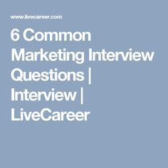 common marketing interview questions