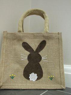 Easter Bag Mini Jute