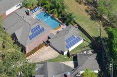 Solar Power - 5.5 kW system comprising 2 arrays of 11 x 250 watt Siliken modules connected to a PowerOne Aurora PVI5000 inverter.