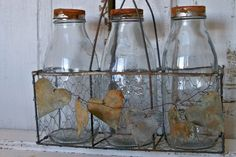 Wire milk carrier French farmhouse rusty by AnitaSperoDesign, $85.00