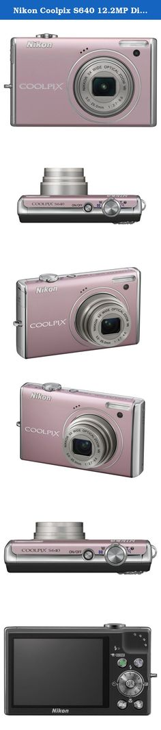 Nikon Coolpix S640 12.2MP Digital Camera with 5x Wide Angle Optical Vibration Reduction (VR) Zoom and 2.7-inch LCD (Precious Pink). The Coolpix S640 ultra-fast autofocus helps you capture once-in-alifetime expressions with just the right timing. Tie these features together with the fastest start-up time* of only 0.7 seconds, and you have a powerful photographic tool that lets you beautifully preserve lifes fleeting moments. Precious Pink Coolpix S640 Digital Camera Rechargeable Li-ion...