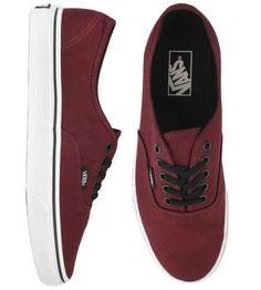 Vans Authentic Skate Shoes - Port Royale Red/Black $41.00 #vans #authentic