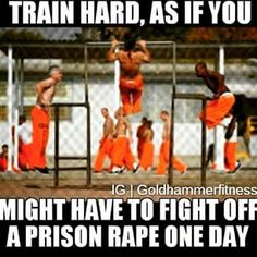 Calisthenics in Prison! Gym Humour, Workout Humor, Workout Bodyweight, Workouts, Prison Life, Gym Memes, Crossfit Memes, Street Workout, Calisthenics
