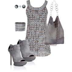 Sweet Silver, created by johnna-cameron on Polyvore