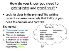 A compare-and-contrast essay shows the differences and ...