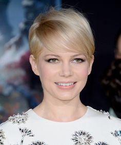 Hairstyles with Bangs:  michelle williams short hair bangs Beautiful Bangs