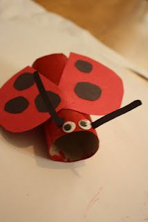 toilet paper roll ladybug craft free crafts activities craft projects arts 7259