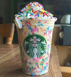 Starbucks secret menu: vanilla birthday cake batter frappe