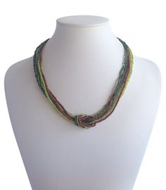 Love Knot Earthy Tones A$19.50 Earthy, Knots, Artisan, Beaded Necklace, Jewelry Making, India, Accessories, Collection, Fashion
