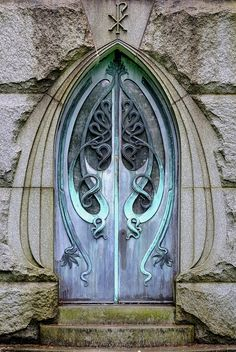 Art nouveau door to a mysterious realm....