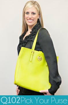 Michael Kors - Jet Set Travel Tote in Apple. Go to wkrq.com to find out how to play Q102's Pick Your Purse!