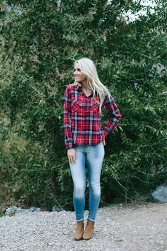 Love this plaid hoodie for fall!