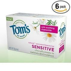 Tom`s of Maine Moisturizing Bar Sensitive, 4-Ounces Bars (Pack of 6) $13.14 (save $9.52) + Free Shipping