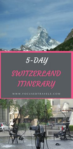 We spent 5 days in Switzerland and tried to pack in as much sightseeing as possible. Here is our Switzerland itinerary for 5 days in this beautiful country. Switzerland Places To Visit, Switzerland Travel Guide, Switzerland Itinerary, Switzerland Vacation, Europe Destinations, Europe Travel Tips, European Vacation, European Travel, Backpacking Europe