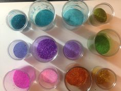 make your own embossing powder colors.