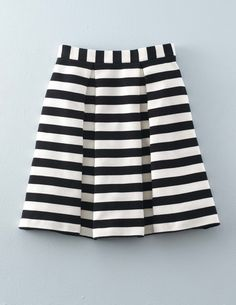 I love the broad stripes and the box pleats on this skirt. The texture on the fabric is great, too!
