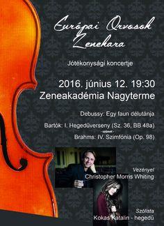 Az Európai Orvosok Zenekara jótékonysági koncertje, Budapest, a Zeneakadémia Nagyterme, 2016. június 12.