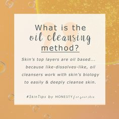 It may sound funny but oil cleansing is one of the best ways to cleanse your skin. The oil cleansing method works because makeup is oil based and your skin it oil based... like dissolves like, so oil is the perfect partner. Learn all by clicking above