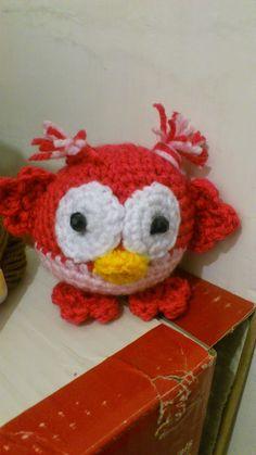 Amigurumi Owl - FREE Crochet Pattern / Tutorial.  FREE PATTERN 9/14.  Not in English.