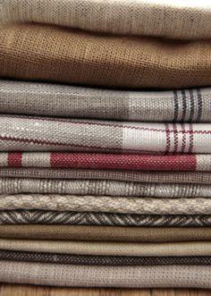 fabrics Textile Fabrics, Textile Patterns, Home Textile, Linens And Lace, Fabulous Fabrics, Vintage Textiles, Natural Linen, Linen Fabric, Lana